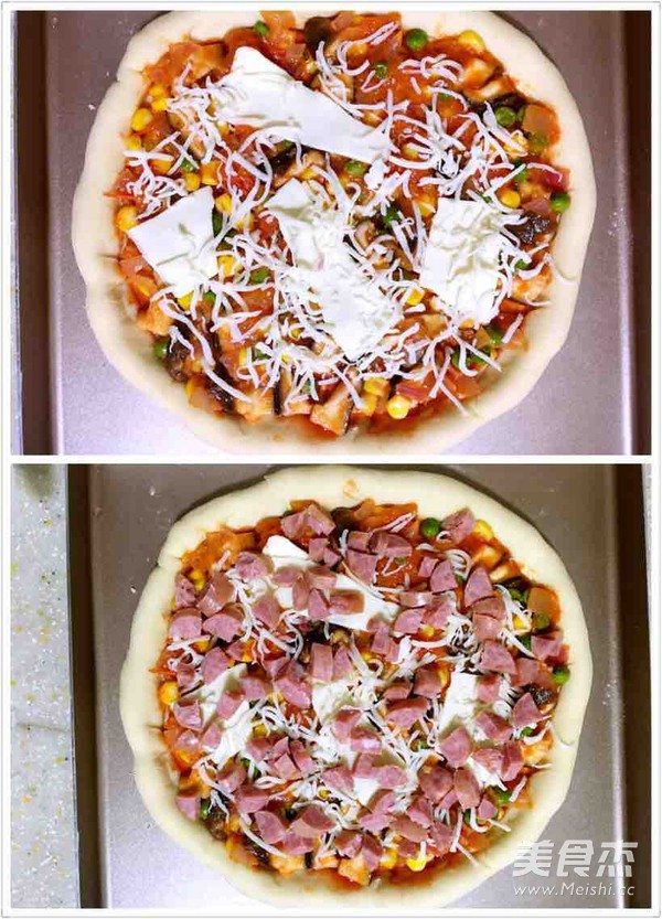 缤纷田园披萨怎么做