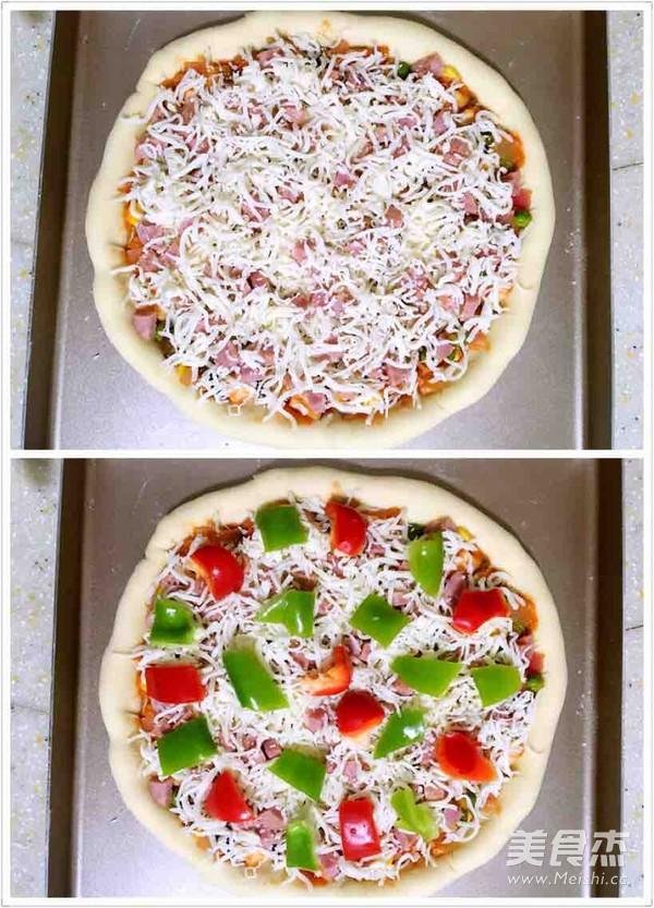 缤纷田园披萨怎么炒