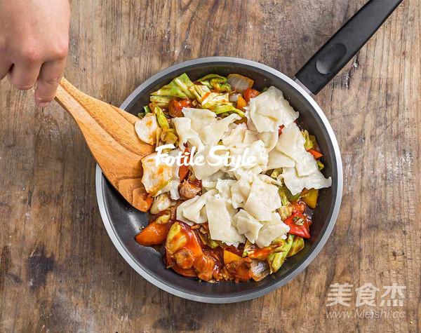 新疆炒面片怎么吃