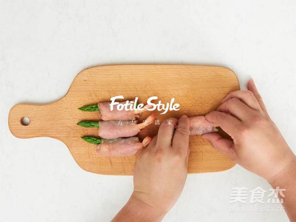 芦笋鲜虾猪肉卷怎么做