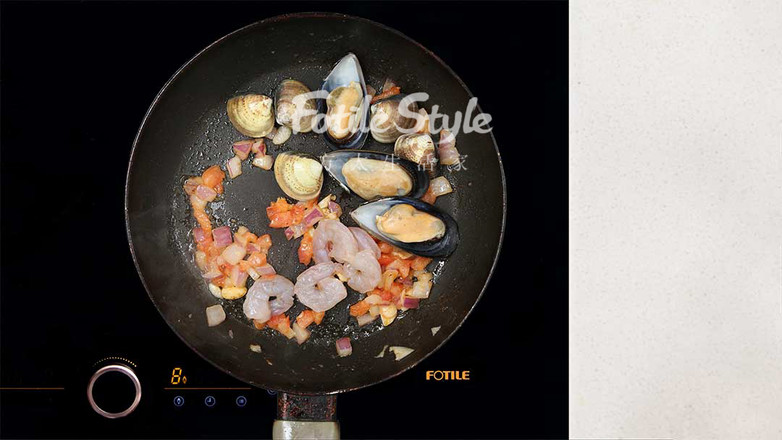海鲜烩意面怎么煮