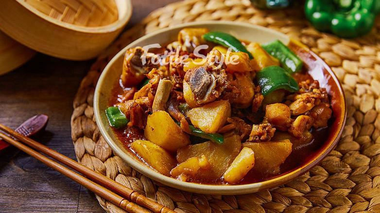 土豆焖鸡腿怎样炒
