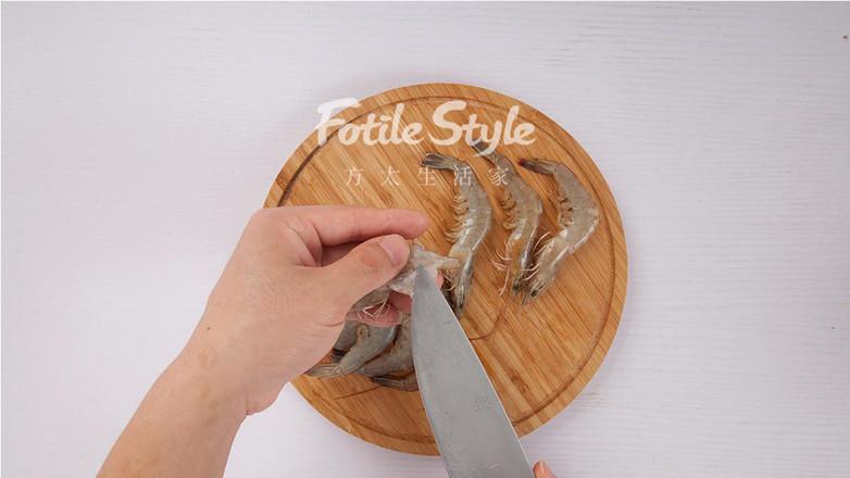 鲜虾炒白菜的做法图解