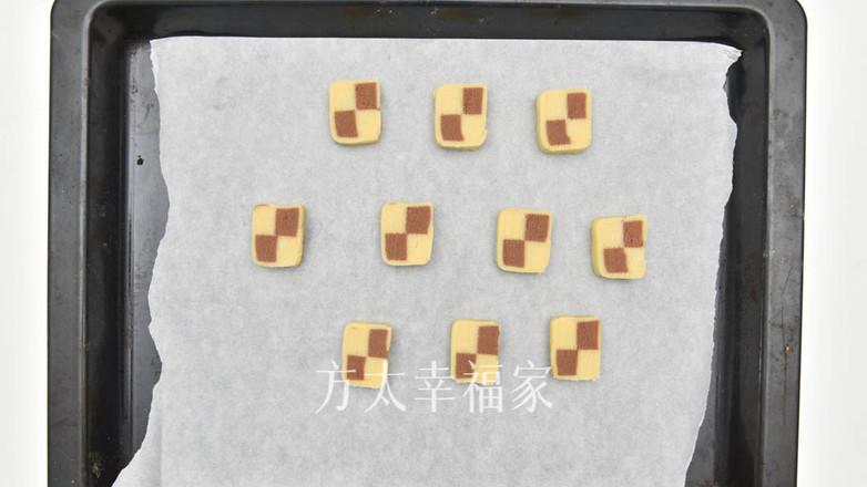 精致可爱的双色棋格饼干的制作