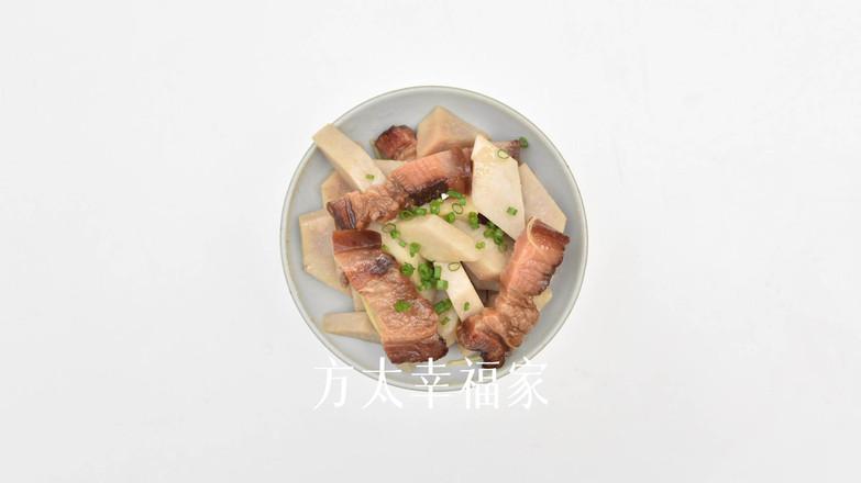 腊肉焖香芋的步骤