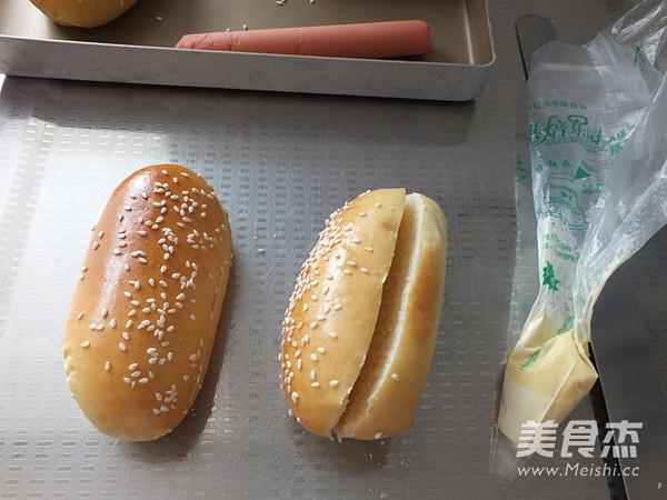 热狗面包的制作方法