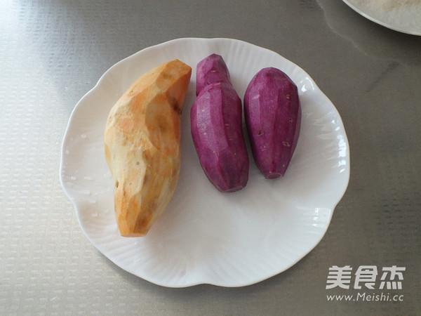 椰香红薯条的步骤