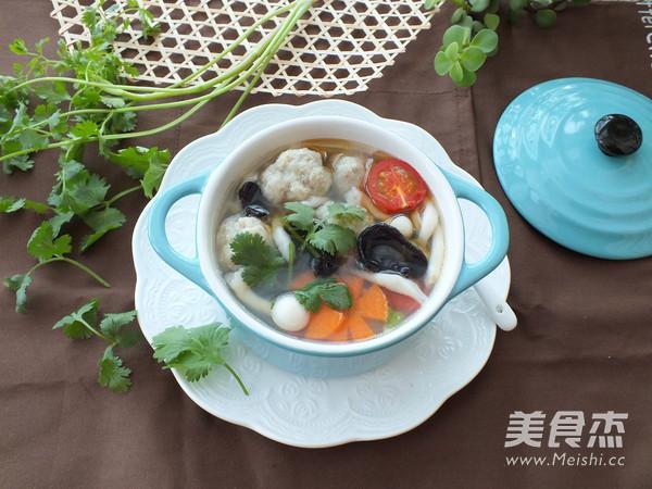 海鲜菇肉丸汤怎样煸