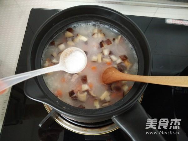 胡萝卜香菇瘦肉粥怎么做