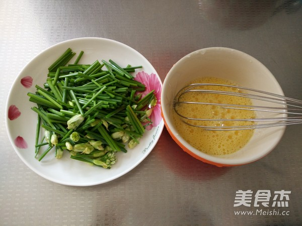韭菜苔炒鸡蛋的做法图解
