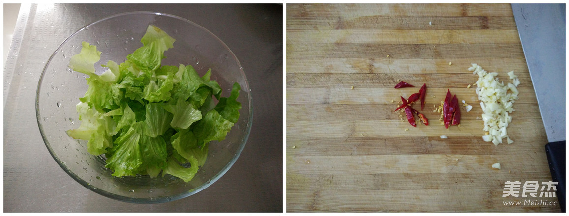 炝拌生菜的做法图解