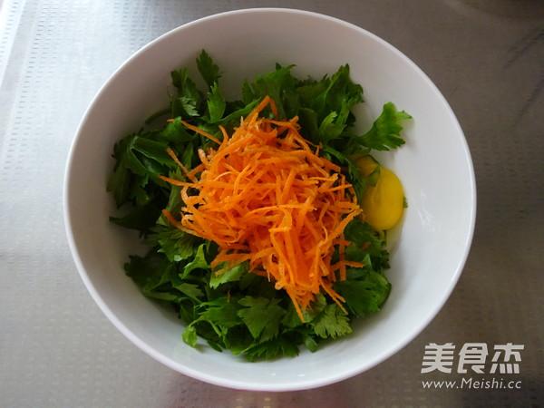 芹菜叶胡萝卜早餐饼的做法图解