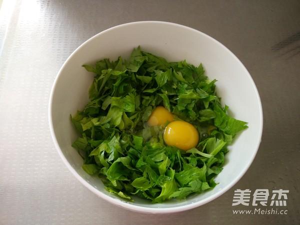 芹菜叶炒鸡蛋的做法图解