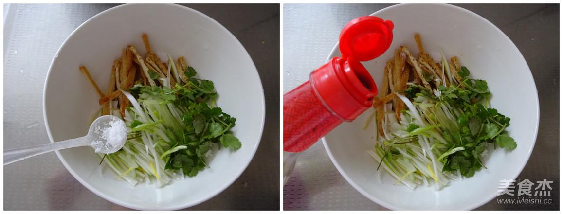 大葱拌豆腐干的简单做法
