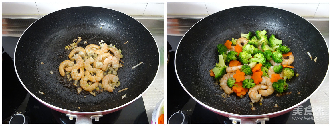西蓝花炒虾仁的简单做法