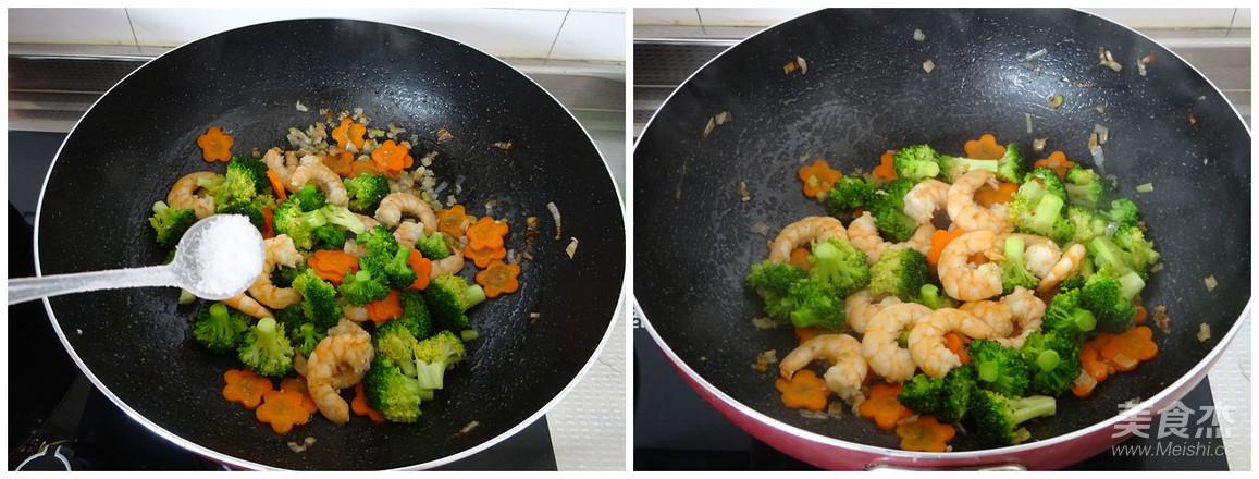 西蓝花炒虾仁怎么吃