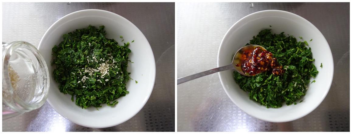 辣椒油拌香椿的简单做法