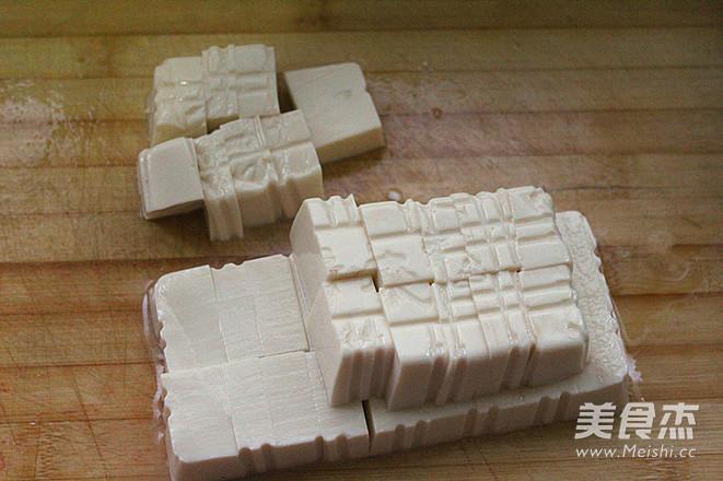 浇汁肉末豆腐的步骤