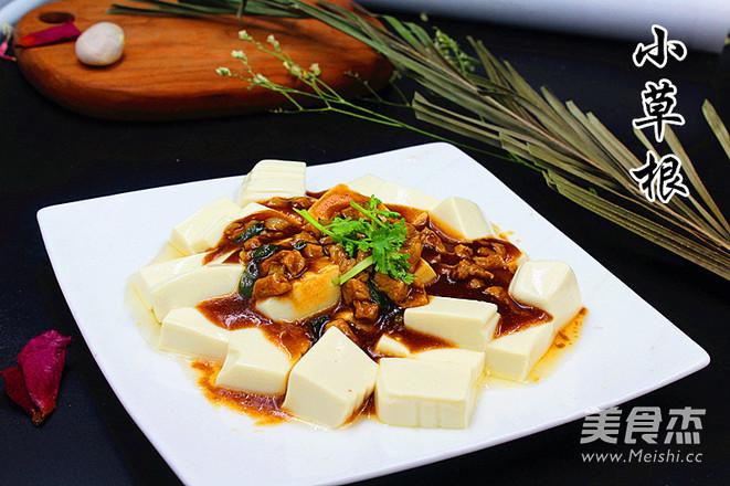 浇汁肉末豆腐成品图