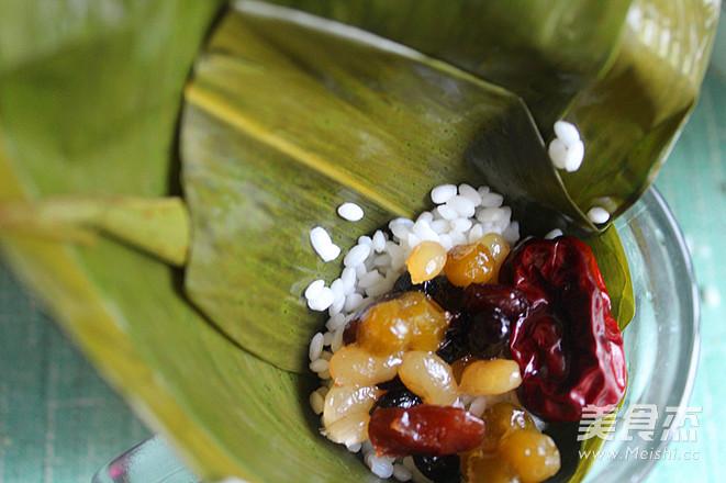 蜜豆蜜枣粽子怎么做