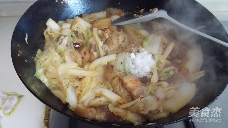 五花肉白菜粉丝怎么炒