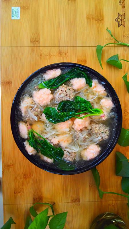 肉丸虾滑萝卜丝菠菜汤怎样煮
