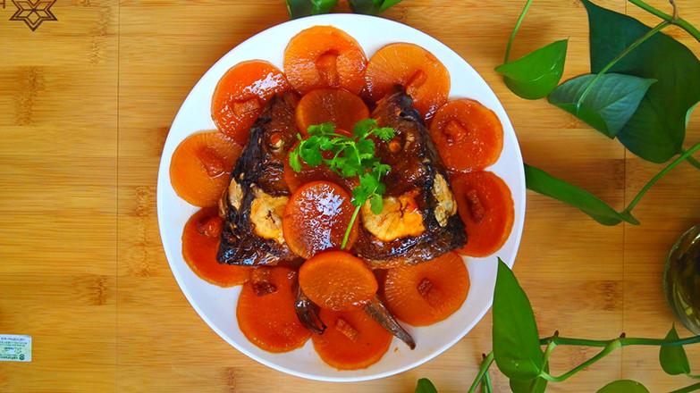 鱼头烧萝卜成品图