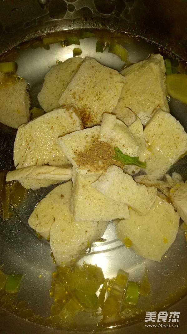 小白菜炖冻豆腐怎么做