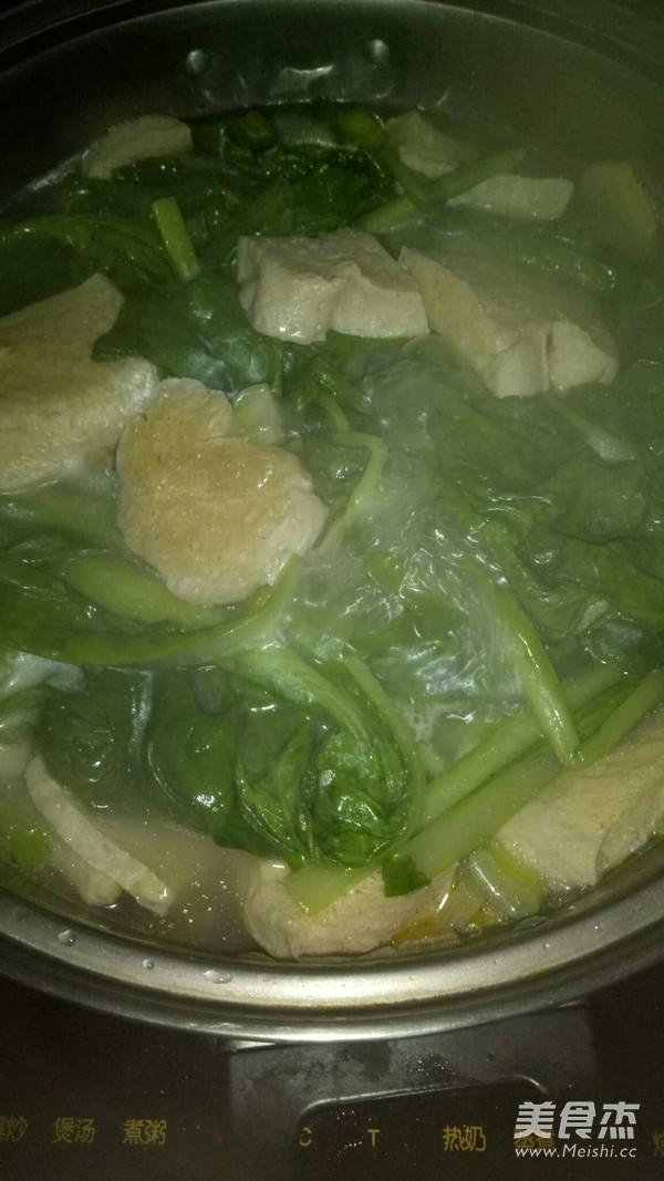 小白菜炖冻豆腐怎么炖