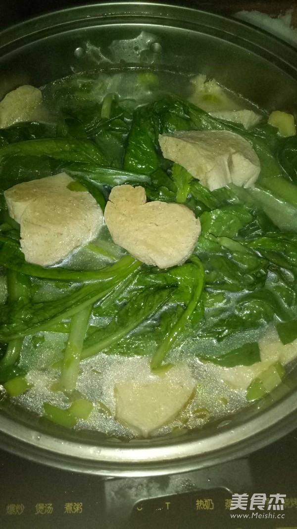 小白菜炖冻豆腐怎么煸