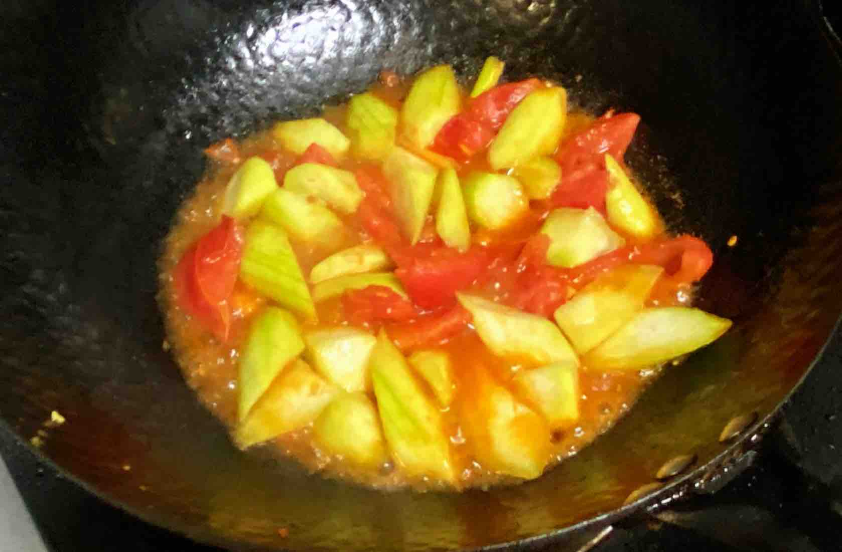 【孕妇食谱】番茄丝瓜炒鸡蛋,酸酸甜甜,营养全面~的步骤