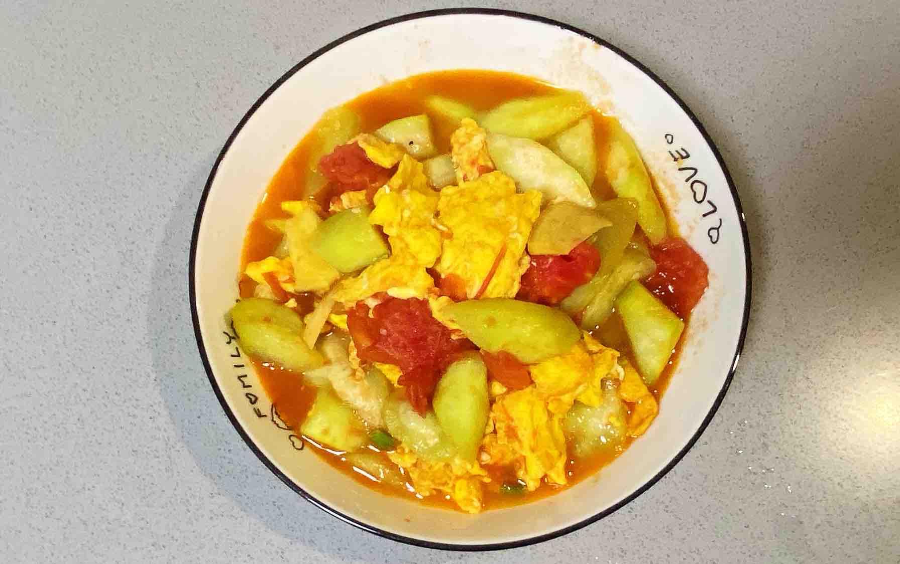 【孕妇食谱】番茄丝瓜炒鸡蛋,酸酸甜甜,营养全面~怎么炖