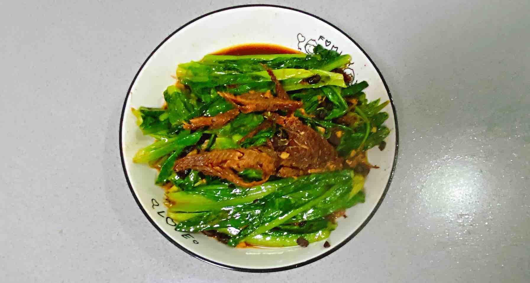 【孕妇食谱】豆豉鲮鱼油麦菜,鲜香扑鼻,美味又下饭~成品图