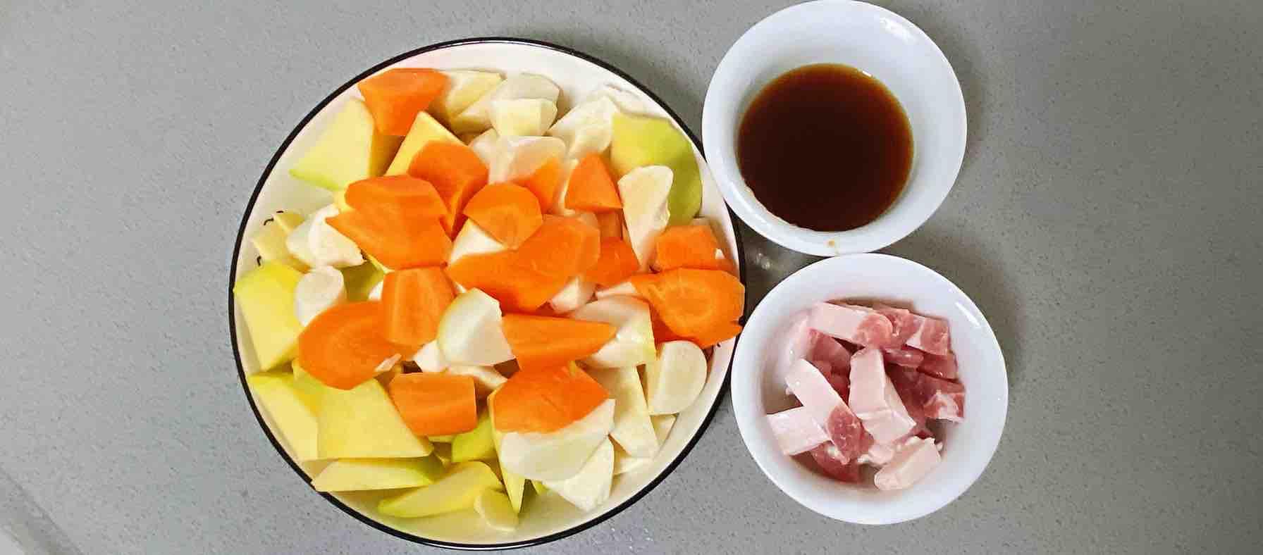 【孕妇食谱】鲍汁茭白焖南瓜,鲜味十足,香甜可口~的步骤