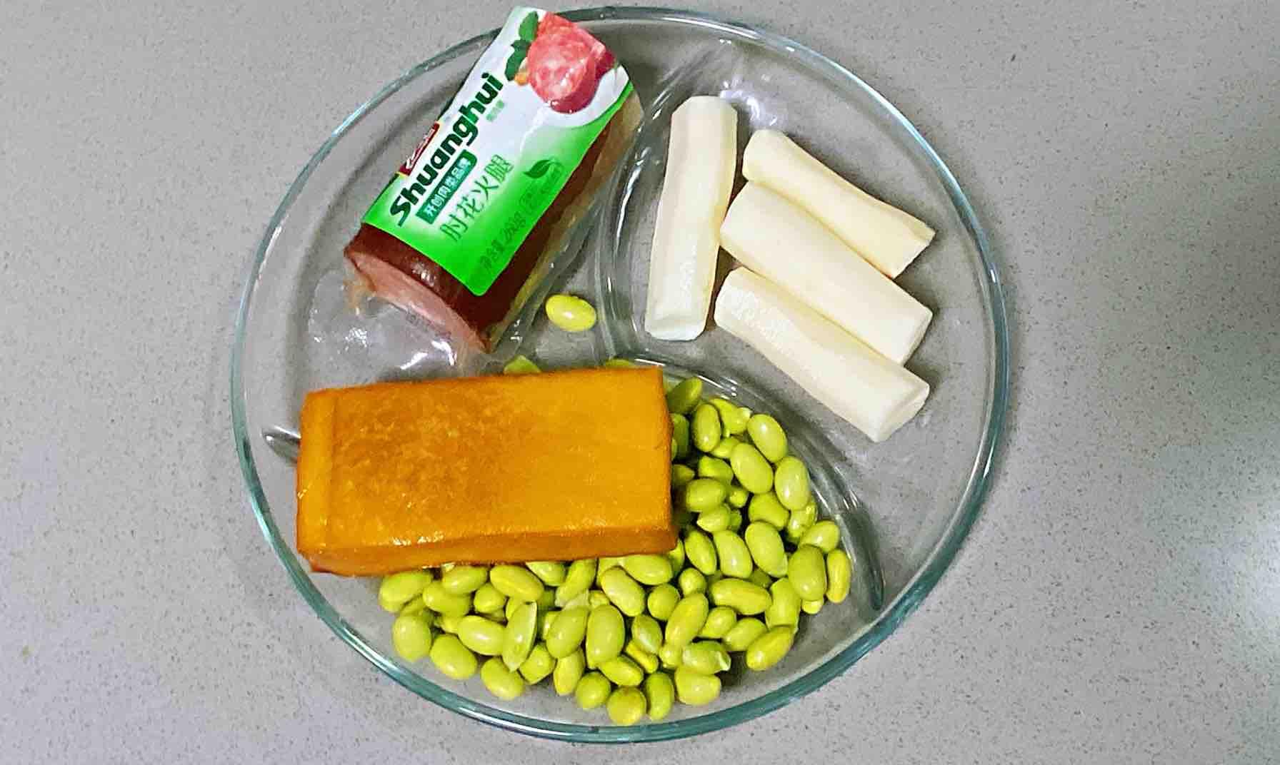 【孕妇食谱】火腿毛豆山药丁,营养丰富、色香味美~的做法图解