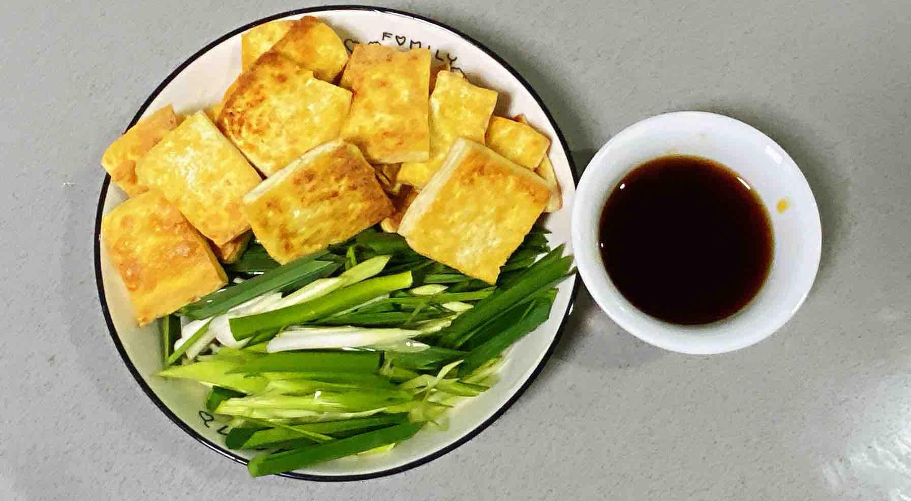 【孕妇食谱】鲍汁豆腐烧青蒜,鲜味浓郁,超级下饭~怎么吃