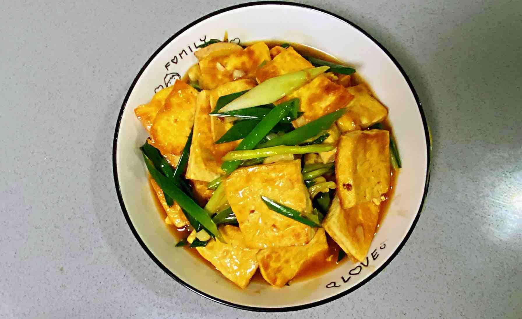 【孕妇食谱】鲍汁豆腐烧青蒜,鲜味浓郁,超级下饭~怎么炖