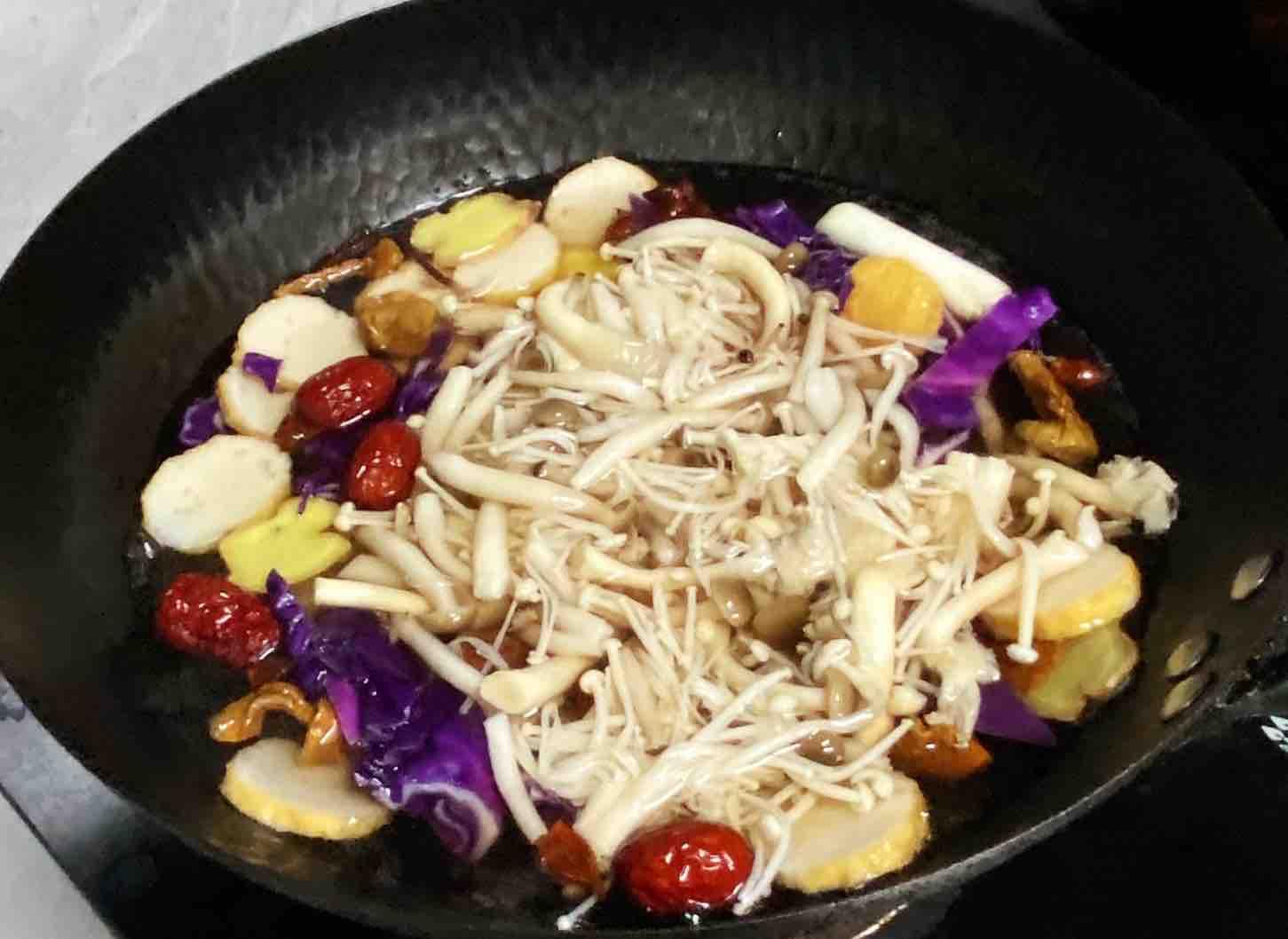 【孕妇食谱】五彩菌菇汤,鲜美低脂又营养,好吃好喝不发胖~的步骤