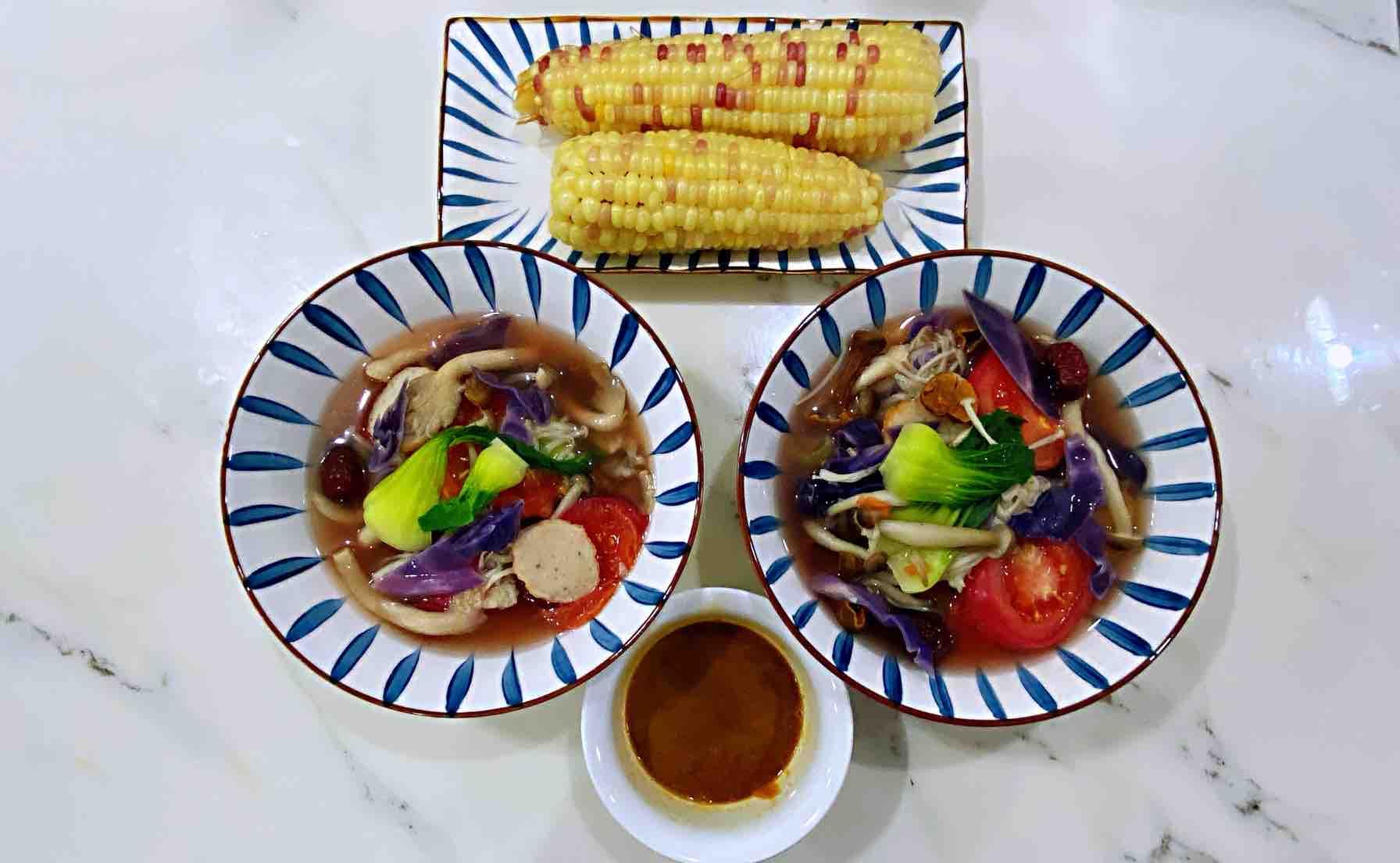 【孕妇食谱】五彩菌菇汤,鲜美低脂又营养,好吃好喝不发胖~成品图
