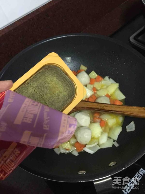 咖喱鱼蛋饭怎么做