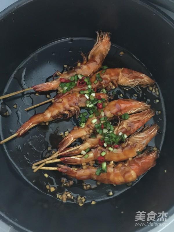 油焖竹签大虾的制作方法