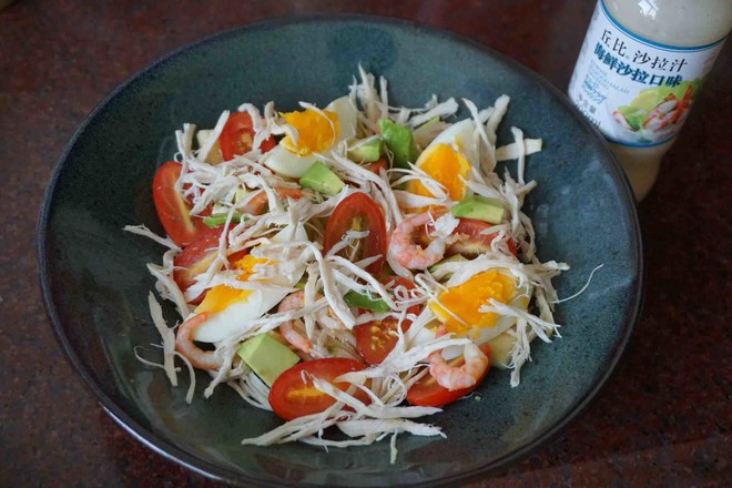 鸡丝果蔬沙拉丘比沙拉汁怎么炖