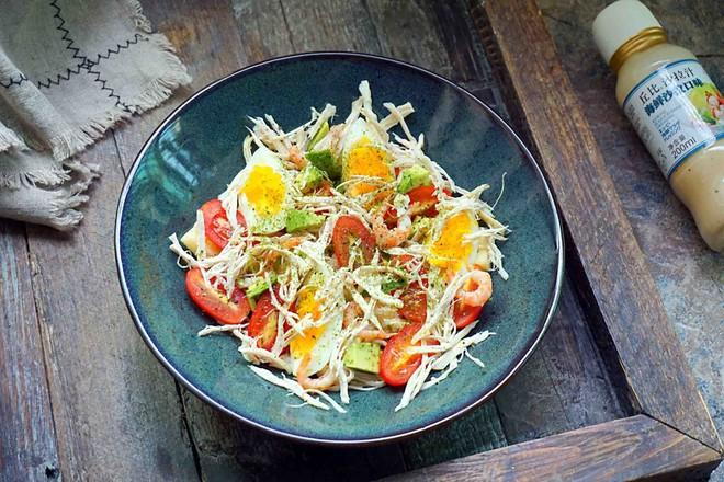 鸡丝果蔬沙拉丘比沙拉汁怎样做