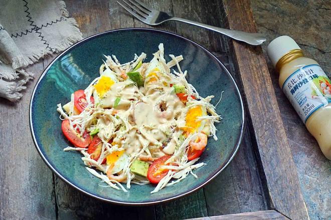 鸡丝果蔬沙拉丘比沙拉汁怎样炒