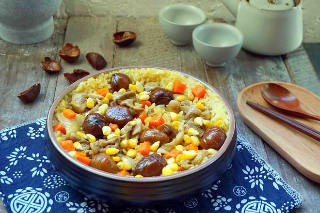 板栗咖喱鸡肉蒸饭怎样做