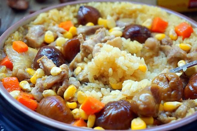 板栗咖喱鸡肉蒸饭怎样煮