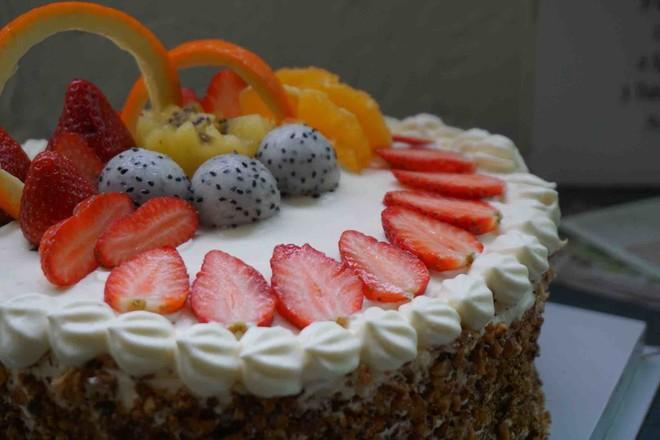 核桃水果蛋糕的做法大全
