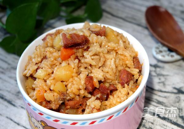 香肠土豆焖饭怎样做