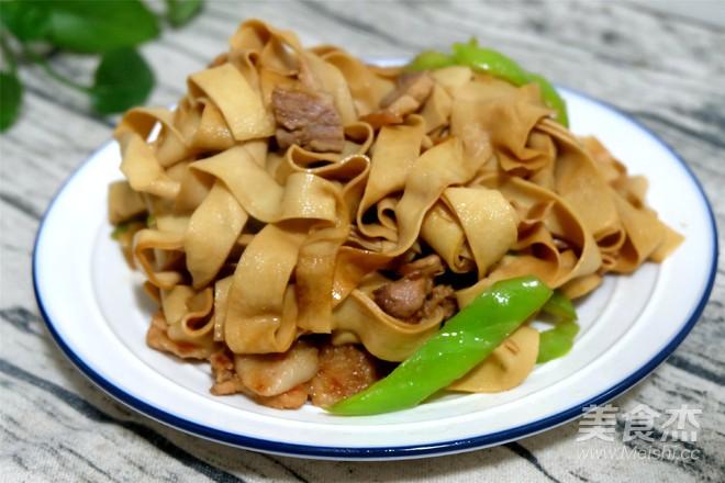 豆腐皮炒肉怎么煮