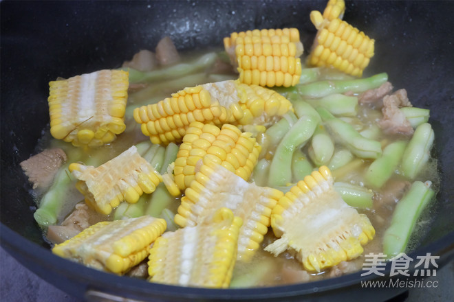 玉米酱豆角怎么炖